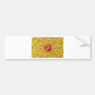 Tomato with fusilli pasta bumper sticker