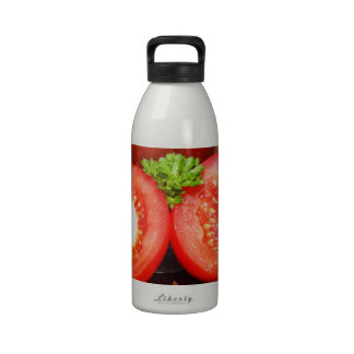 tomato with sauce or juice drinking bottle