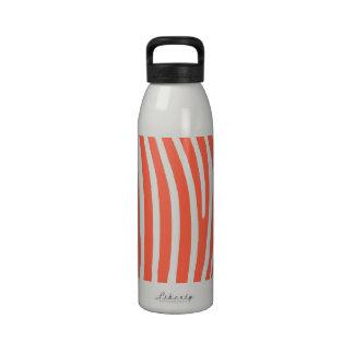 Tomato Zebra Stripes. Reusable Water Bottles