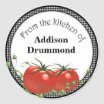 Tomatoe canning labels classic round sticker