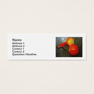 Tomatoes And Chili Peppers Business Cards