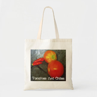 Tomatoes And Chilies Canvas Bags
