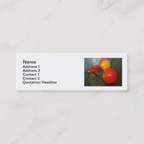 Tomatoes And Chilies Business Cards profilecard