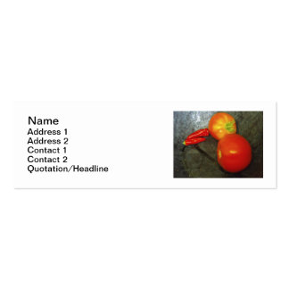 Tomatoes And Chilies Business Cards