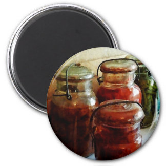 Tomatoes and String Beans in Canning Jars Fridge Magnet