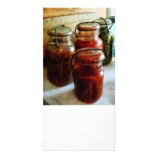 Tomatoes and String Beans in Canning Jars Picture Card