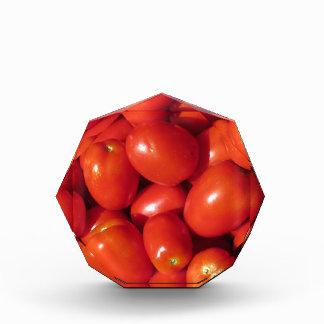 Tomatoes background acrylic award