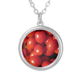 Tomatoes background personalized necklace