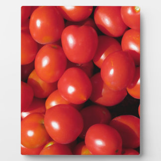 Tomatoes background plaque