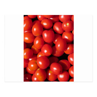 Tomatoes background postcard