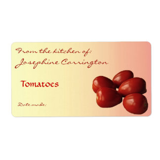 Tomatoes Canning Labels