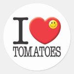 Tomatoes Classic Round Sticker