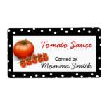Tomatoes Custom Canning Labels