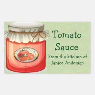Tomatoes Design Canning Label Rectangular Sticker