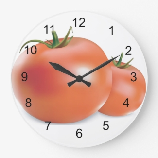 Tomatoes Design Wall Clock