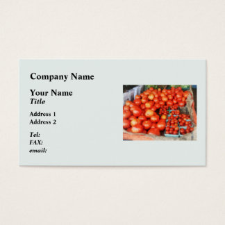 Tomatoes For Sale Business Card