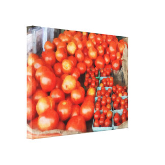 Tomatoes For Sale Canvas Print