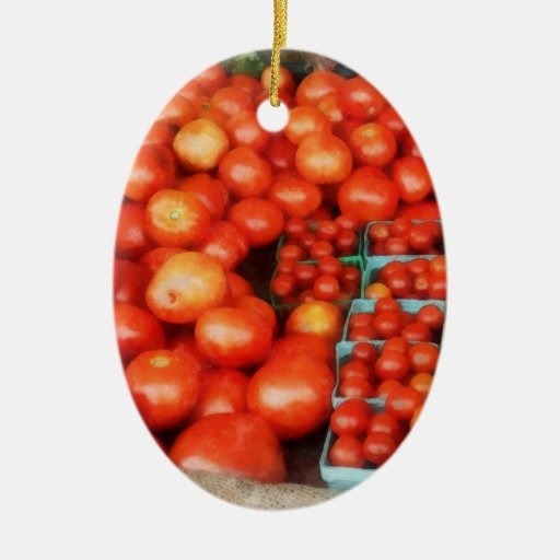 Tomatoes For Sale Christmas Tree Ornaments
