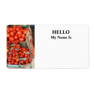 Tomatoes For Sale Label