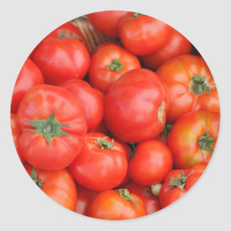 Tomatoes in a Basket Classic Round Sticker