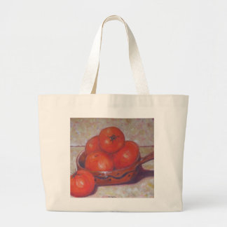 Tomatoes in a Dish Large Tote Bag