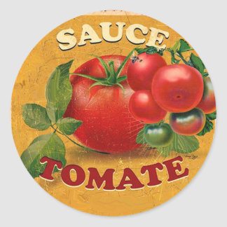 TOMATOES KITCHEN PRESERVES ,CANNINGS ,TOMATO SAUCE CLASSIC ROUND STICKER