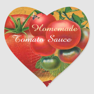 TOMATOES KITCHEN PRESERVES ,CANNINGS ,TOMATO SAUCE HEART STICKER