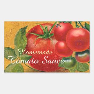 TOMATOES KITCHEN PRESERVES ,CANNINGS ,TOMATO SAUCE RECTANGULAR STICKER