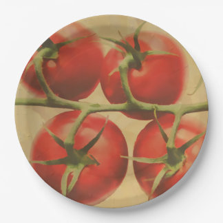 Tomatoes On The Vine Paper Plate