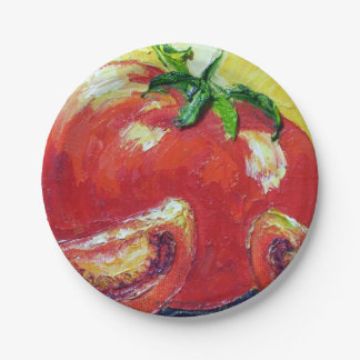 Tomatoes Paper Plates by Paris Wyatt Llanso