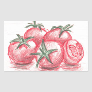 Tomatoes Rectangular Sticker