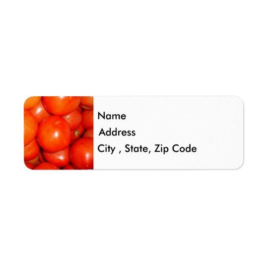 Tomatoes Return Address Label