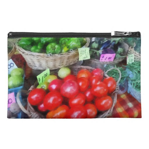 Tomatoes, String Beans and Peppers at Farmer's Mar Travel Accessory Bag