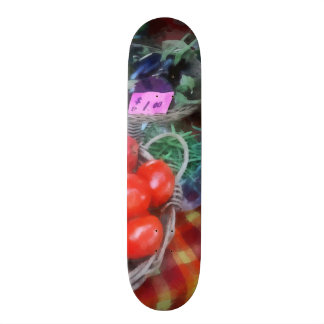 Tomatoes, String Beans and Peppers at Farmer's Mar Custom Skate Board