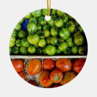 Tomatos of colors ceramic ornament