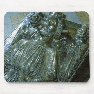 Tomb de rey Juan con dos figuras miniatura Alfombrillas De Ratones