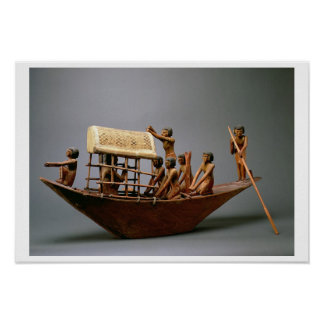Tomb model of a ship, c.2000 BC (wood) Poster