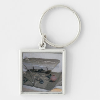 Tomb of a Gaulish chief and his chariot driver Silver-Colored Square Keychain