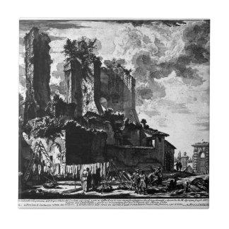 Tomb of Cecilia Metella said Capo di Bove Giovanni Tile