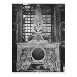 Tomb of Charles Le Brun and his wife Postcard