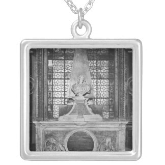 Tomb of Charles Le Brun and his wife Silver Plated Necklace