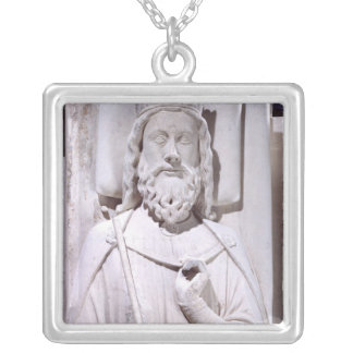 Tomb of Clovis I , King of the Franks Silver Plated Necklace