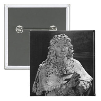 Tomb of Jean-Baptiste Colbert de Torcy 2 Inch Square Button