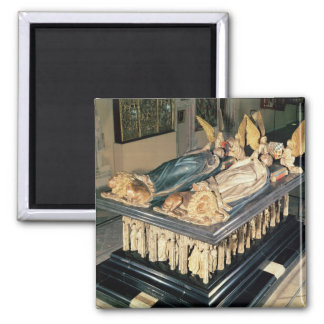 Tomb of John the Fearless  and Margaret of 2 Inch Square Magnet