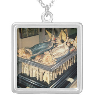 Tomb of John the Fearless  and Margaret of Silver Plated Necklace