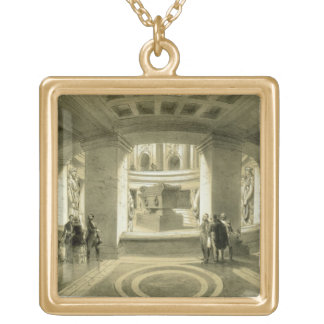 Tomb of Napoleon (1769-1821) at Invalides, from 'P Gold Plated Necklace