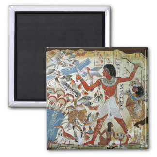 Tomb of Nebamun: Fowling 2 Inch Square Magnet