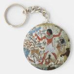 Tomb of Nebamun: Fowling Basic Round Button Keychain