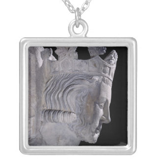 Tomb of Pepin 'the Short' , King of the Franks Silver Plated Necklace