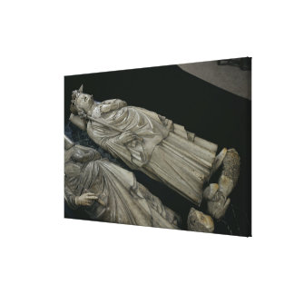 Tomb of Philippe IV  Le Bel, 1327 Canvas Print